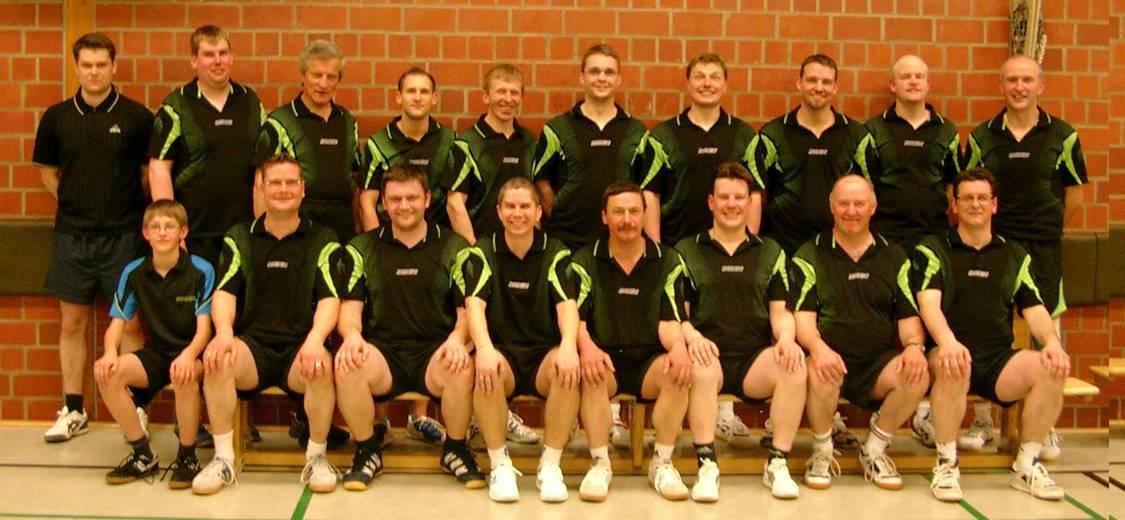 Die Tischtennis-Abteilung der Herren von 2012