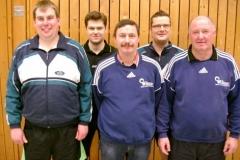 v.l.n.r: Björn Brockmann, Edgar Bloch, Rolf Krischker, Rüdiger Fitschen und Helmut Felsch