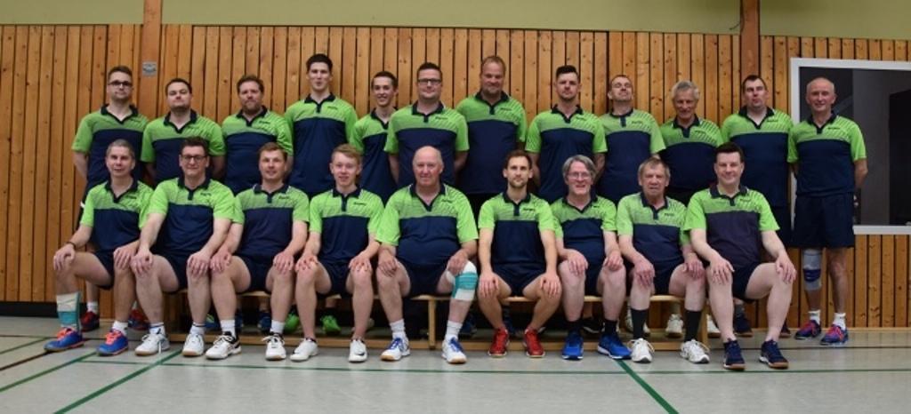 Fast alle an Bord, das Team der Tischtennis - Abteilung des MTV Gyhum 2019